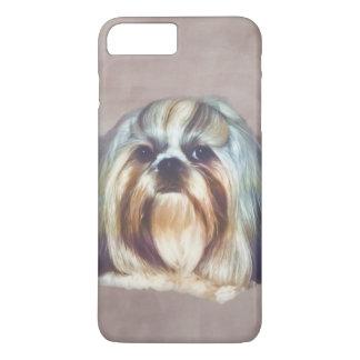Brindle and White Shih Tzu Dog iPhone 7 Plus Case