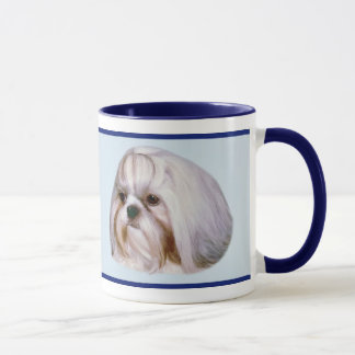 Brindle and White Shih Tzu Dog Mug