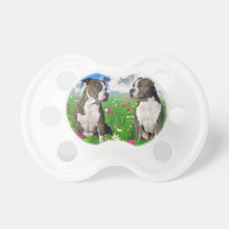 Brindle & Blue Staffordshire & Pit Bull Dogs Baby Pacifiers