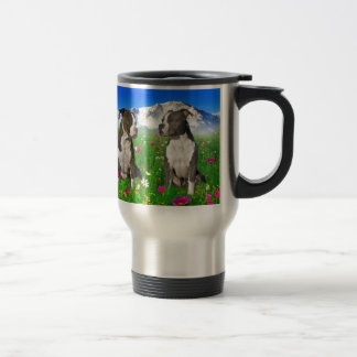 Brindle & Blue Staffordshire & Pit Bull Dogs Stainless Steel Travel Mug