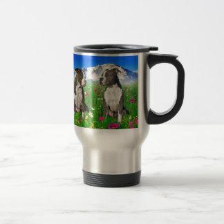 Brindle Blue Staffordshire Pit Bull Dogs Mug