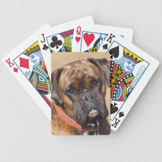 Brindle Boxer Dog Bicycle Playing Cards