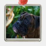 Brindle boxer dog ornament