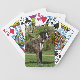 Brindle Boxer Dog Show Stance Bicycle Playing Cards