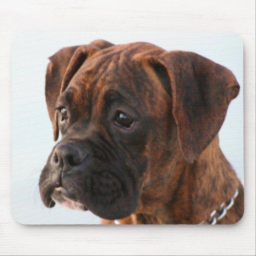 Brindle boxer puppy mousepad zazzle for Brindle boxer
