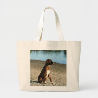 Brindle Boxer Puppy Tote bag