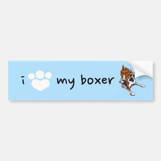 Brindle Boxer Wanna Play Bumper Sticker