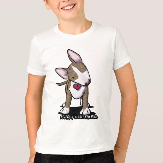Brindle Bully Girls Ringer T-Shirt