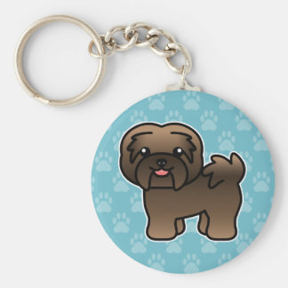 Brindle Cartoon Havanese Key Ring