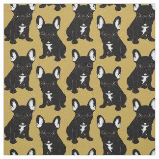 Brindle French Bulldog Fabric