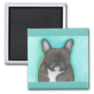 Brindle French Bulldog magnet