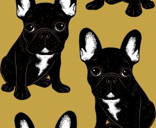 French Bulldog Bathroom Accessories