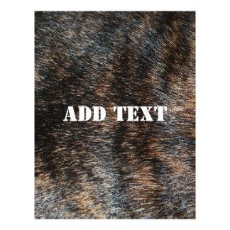 Brindle Fur Texture Camouflage 21.5 Cm X 28 Cm Flyer