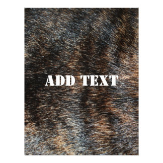 Brindle Fur Texture Camouflage Flyer