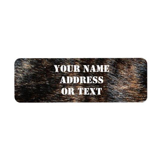 Brindle Fur Texture Camouflage Return Address Label