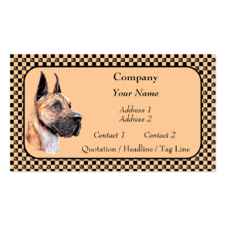 Brindle Great Dane Show Colors Business Cards