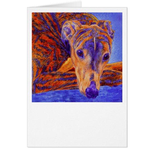 """Brindle Greyhound Card - """"Ace"""""""