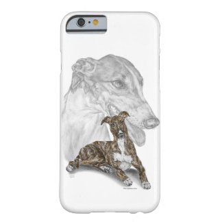 Brindle Greyhound Dog Art Barely There iPhone 6 Case
