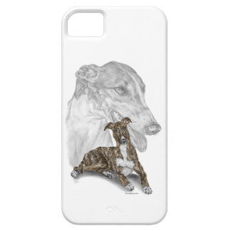 Brindle Greyhound Dog Art iPhone 5 Cases