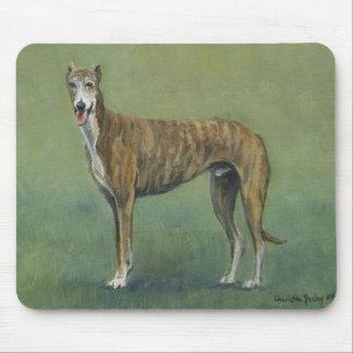 Brindle Greyhound Dog Art Mouse Pad