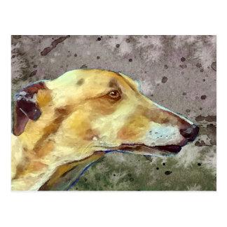 Brindle greyhound postcard (a341)