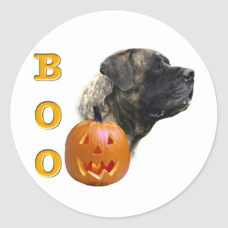 Brindle Mastiff Boo Sticker