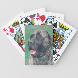 Brindle Mastiff Dog Playing Cards