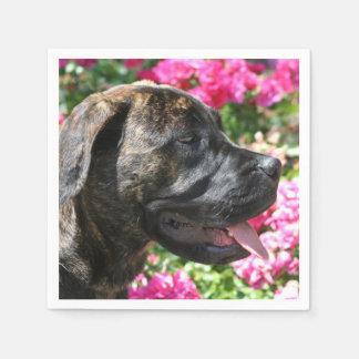 Brindle Mastiff puppy Disposable Napkin