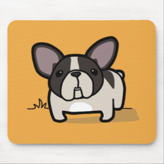 Brindle Pied Frenchie Mouse Mat