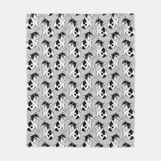 Brindle Pied Frenchie Puppy Fleece Blanket