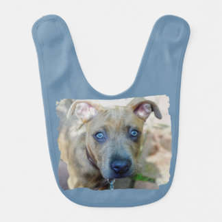 Brindle Pit Bull Puppy by Shirley Taylor Bibs