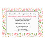 Bring a Book Baby Shower insert card pink green Pack Of Chubby Business Cards