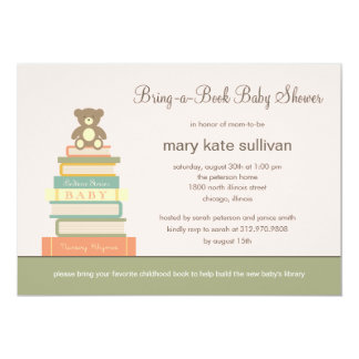 Bring A Book Baby Shower Invitation (Pink)