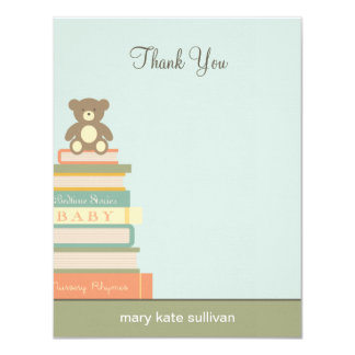 """Bring A Book Baby Shower Thank You Cards (Blue) 4.25"""" X 5.5"""" Invitation Card"""