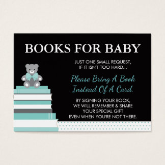 Bring A Book Card, Little Lady, Teddy Bear Business Card