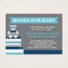 Bring A Book Card, Little Man, Teddy Bear Business Card