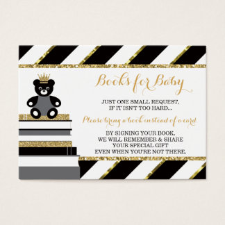 Bring A Book Card, Little Prince, Faux Glitter Business Card