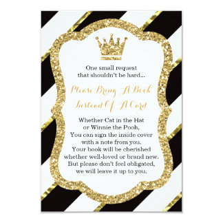 Bring A Book Card, Little Prince, Faux Glitter Card