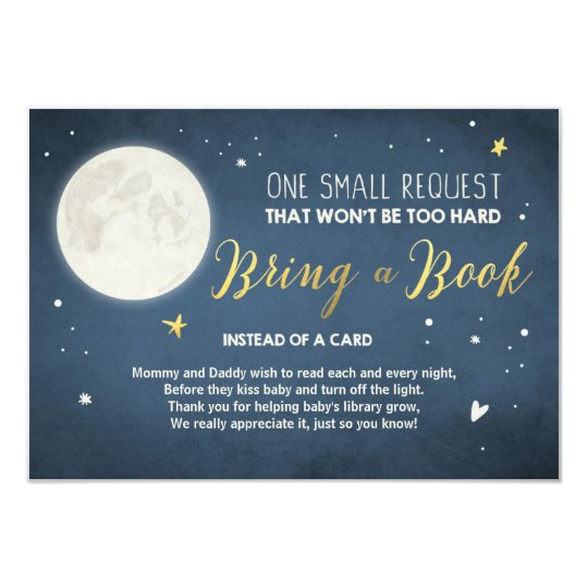 Bring a book card To the moon and