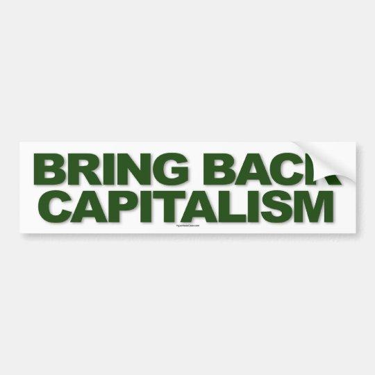 Bring Back Capitalism sticker