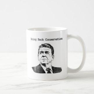 Bring Back Conservatism Ronald Reagan Basic White Mug