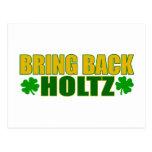 Bring Back Holtz Postcard