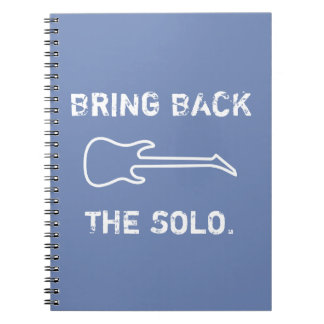 Bring Back The Solo Guitar Music Notebook