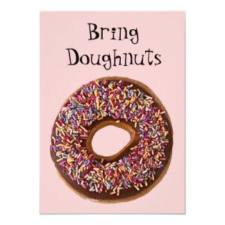 """""""Bring Doughnuts"""" Invitation"""