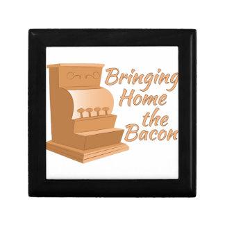 Bring Home Bacon Small Square Gift Box