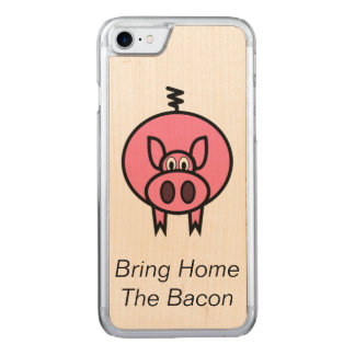 Bring Home The Bacon Carved iPhone 8/7 Case