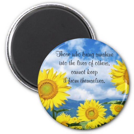 Bring in the Sunshine 6 Cm Round Magnet