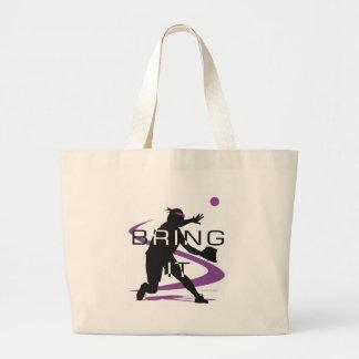 Bring it D Large Tote Bag