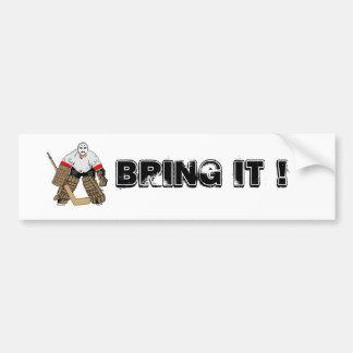 Bring It Hockey Bumper sticker