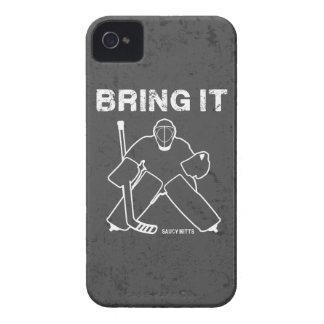 Bring It Hockey Goalie iPhone 4 Cases